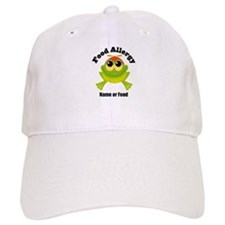 Personalized Food Allergy Frog Baseball Cap