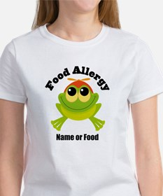 Personalized Food Allergy Frog Women's T-Shirt