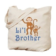 Little Brother Cute Monkeys Tote Bag