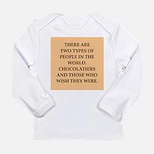 chocolate Long Sleeve Infant T-Shirt