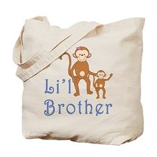 Little Brother Cute Monkeys 2 Tote Bag