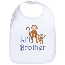 Little Brother Cute Monkeys 2 Bib