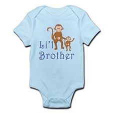 Little Brother Cute Monkeys 2 Infant Bodysuit
