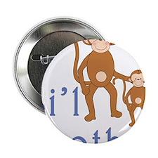 "Little Brother Cute Monkeys 2 2.25"" Button"