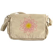 Pink Lotus Flower. Messenger Bag