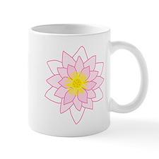 Pink Lotus Flower. Small Mugs