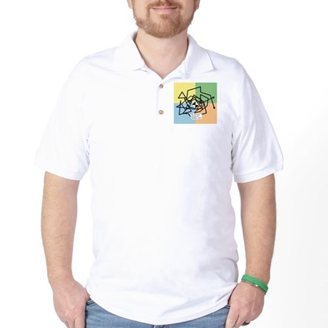 waypoint_path_white Golf Shirt
