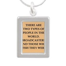 broadcaster Silver Portrait Necklace