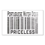 Portuguese Water Dogs Rectangle Sticker
