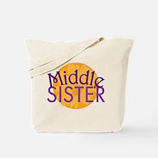 Middle Sister Purple Orange Tote Bag