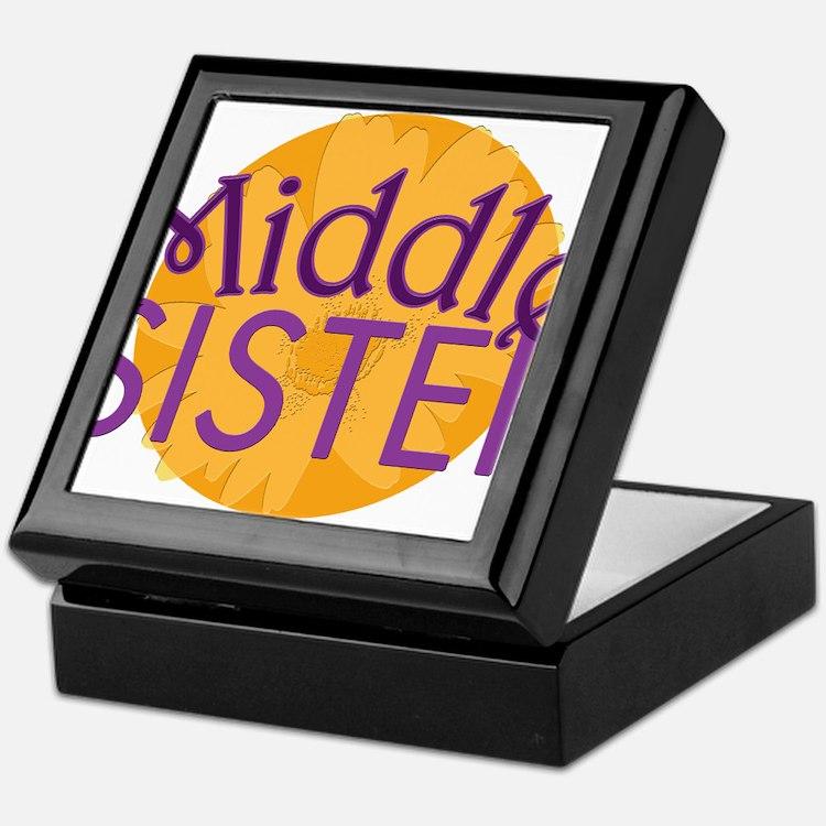 Middle Sister Purple Orange Keepsake Box