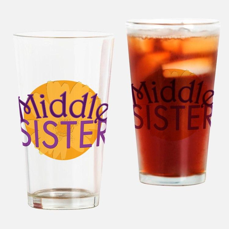 Middle Sister Purple Orange Drinking Glass
