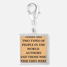 author Silver Square Charm
