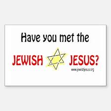 Jewish Jesus Rectangle Decal