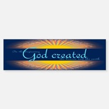 Genesis 1 1 Bible Verse Sunrise Bumper Bumper Sticker