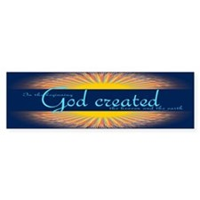 Genesis 1 1 Bible Verse Sunrise Bumper Sticker