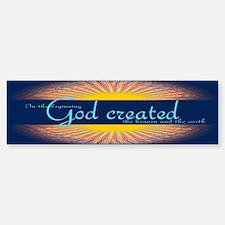 Genesis 1 1 Bible Verse Sunrise Sticker (Bumper)
