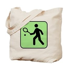 Tennis Player Tote Bag