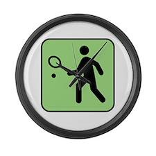 Tennis Player Large Wall Clock