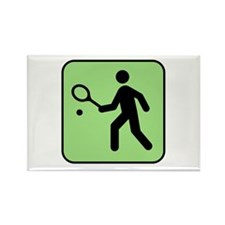 Tennis Player Rectangle Magnet