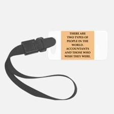 accountants Luggage Tag