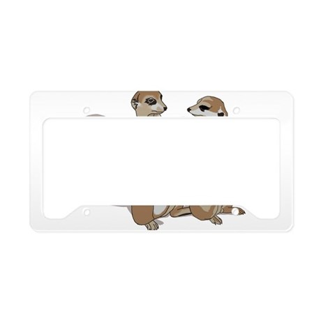 two suricates... License Plate Holder