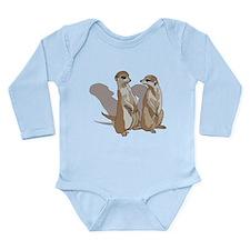 two suricates... Long Sleeve Infant Bodysuit