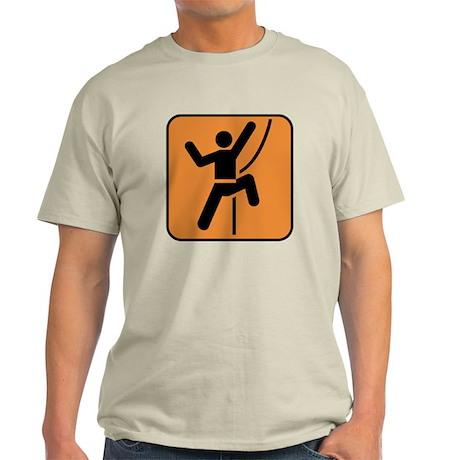 Rock Climbing Climber Light T-Shirt