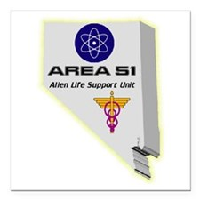 "Alien Life Support Square Car Magnet 3"" x 3"""