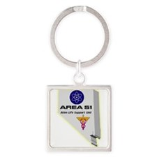 Alien Life Support Square Keychain
