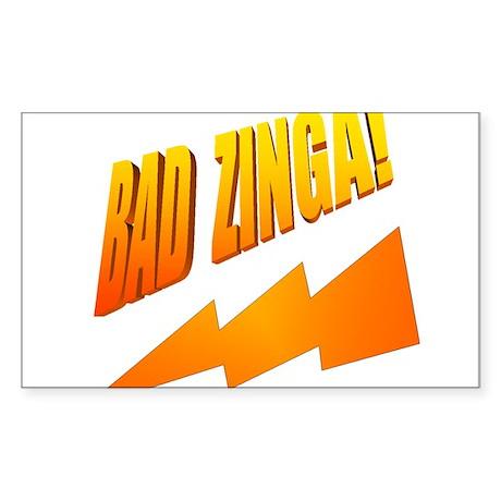 Bad Zinga Sticker (Rectangle)