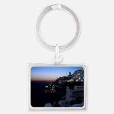 Crescent moon with earthshine - Landscape Keychain