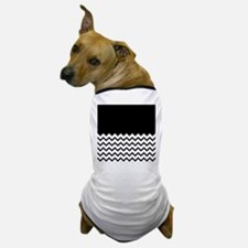 Black Zigzag Pattern. Dog T-Shirt
