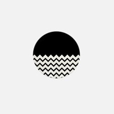 Black Zigzag Pattern. Mini Button