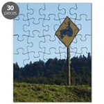 Farmer Crossing Sign Puzzle