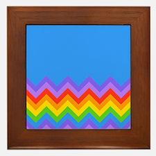 Rainbow Zigzag Pattern. Framed Tile