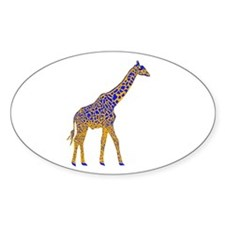 Painted Giraffe Decal