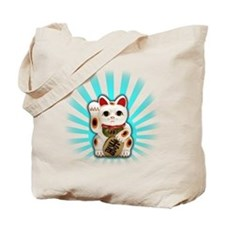 Lucky Cat (Maneki-neko) Tote Bag