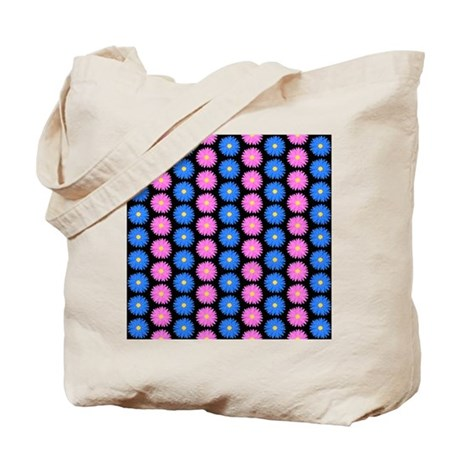 Pink And Blue Floral Pattern. Tote Bag By Metarla2