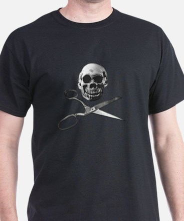 skull and crosscissors t