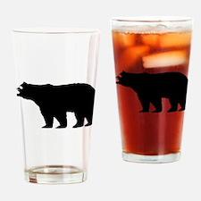 Black Bear Drinking Glass