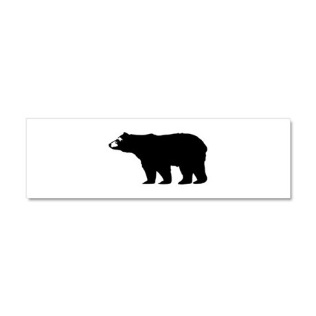 Black Bear Car Magnet 10 x 3