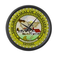 Great Seal of Nevada Large Wall Clock