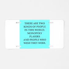 monopoly Aluminum License Plate