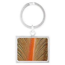 Penguin feather, SEM - Landscape Keychain