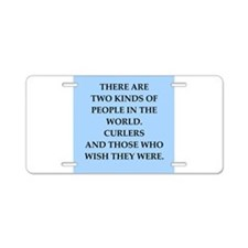 curler Aluminum License Plate