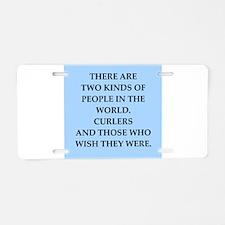 curler Aluminum License Plate