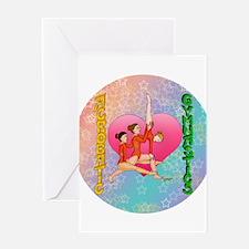 Acrobatic Gymnastics Greeting Card