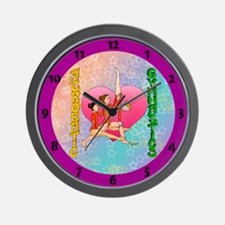 clock Acrobatic Gymnastics Wall Clock