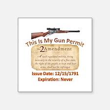 My Gun Permit Sticker